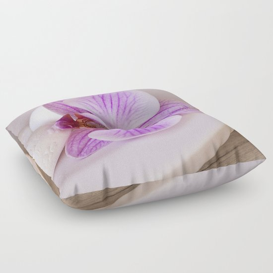 Exotic Floor Pillows : Zen style pink orchid still life purity exotic tropical Floor Pillow by LebensART Photography ...