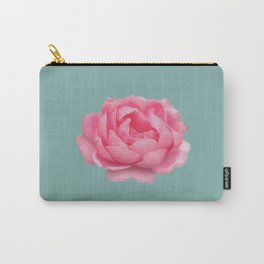 Rose on mint Carry-All Pouch