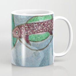Marine Encounters [Blue Version with Seashells] Coffee Mug