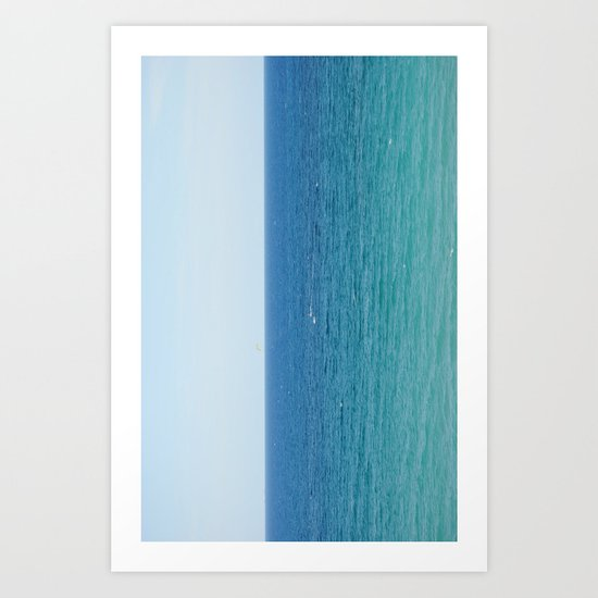 ocean vertical Art Print