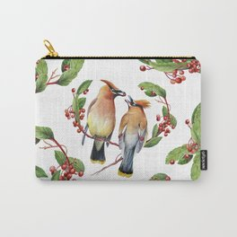 Cedar Waxwing Love Carry-All Pouch