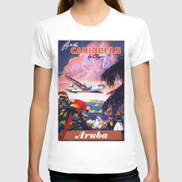 Fly to the Caribbean - Aruba T-shirt