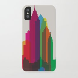 Shapes of Philadelphia accurate to scale iPhone Case