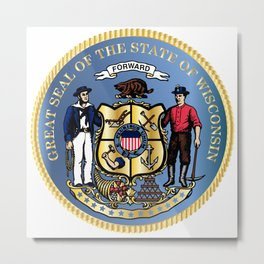 Wisconsin State Seal Metal Print