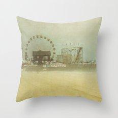 Seaside Heights Fun town pier New Jersey Throw Pillow