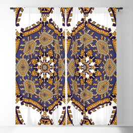 Italian Ceramic Tile Pattern Blackout Curtain