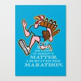 Turkey Marathon Runner Poster  Canvas Print
