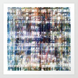 Contrasted, sorted; contorted source. Art Print
