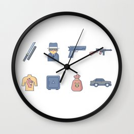 Yakuza Gangster Wall Clock