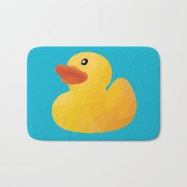 Rubber Duck polygon art Bath Mat