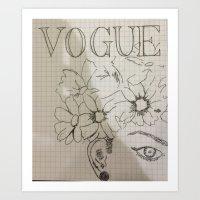 Vogue Cover Art Print