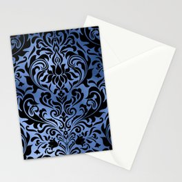 Classic Blue Swirls 12 Stationery Cards