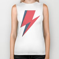 lightning Biker Tanks featuring Lightning by Stag Nacht