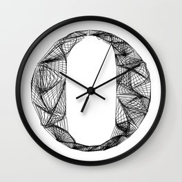 ''City Collection'' - Minimal Letter O Print Wall Clock