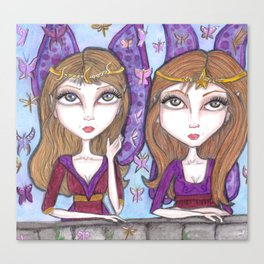 Fortune Teller faeries Canvas Print