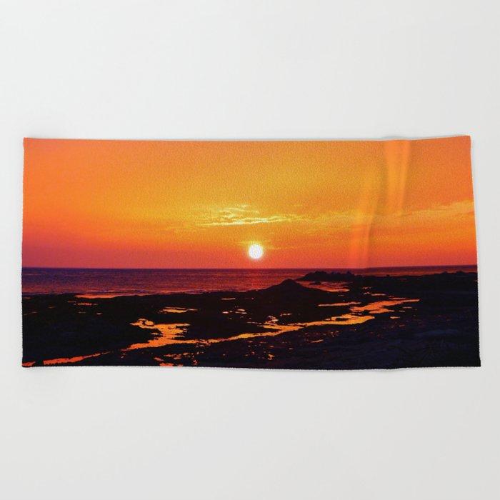 Orange Morning Beach Towel