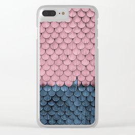 SHELTER / Rose, Light Blue Clear iPhone Case