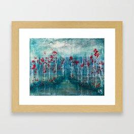 Red Flower Marsh Framed Art Print