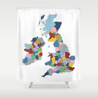 uk Shower Curtains featuring UK by Project M