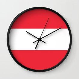 flag of austria Wall Clock