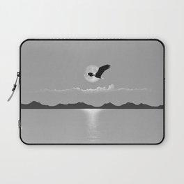 Perfect LIght Silver Moon Eagle Laptop Sleeve