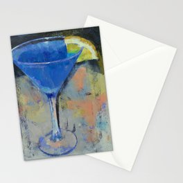 Royal Blue Martini Stationery Cards