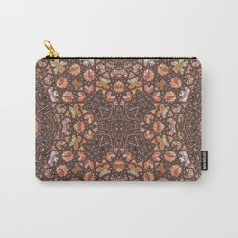 Abalone shell mosaic with a geometric kaleidoscopic design Carry-All Pouch
