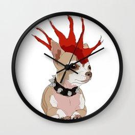 Bad Ass Chihuahua Wall Clock
