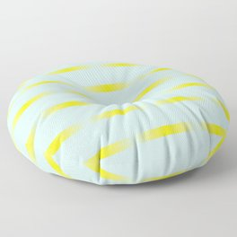 Mint and yellow Floor Pillow