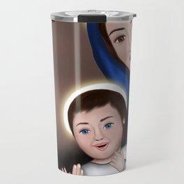 Happy Holy Family - Meera Mary Thomas Design Travel Mug