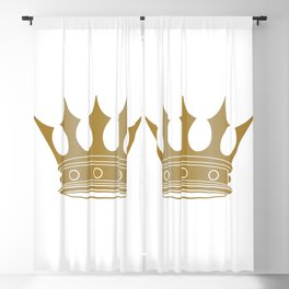 Royal Shining Golden Crown for King or Queen Blackout Curtain