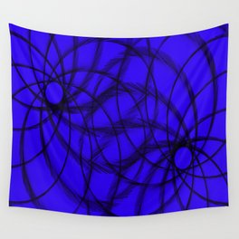 Purple and Black spirals Wall Tapestry