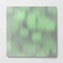 Blur foggy green squares all over the place Metal Print