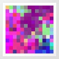 pixel art Art Prints featuring Pixel by FABIAN•SMITH