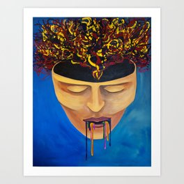 the chaos within Art Print