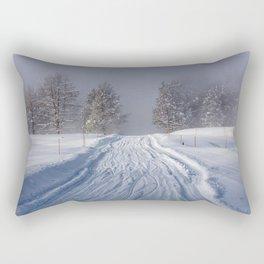 Yellowstone National Park - Road to Mud Volcano Rectangular Pillow
