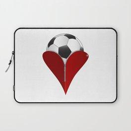 Love Soccer Laptop Sleeve