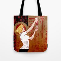 true blood Tote Bags featuring True Blood Nouveau by Nana Leonti