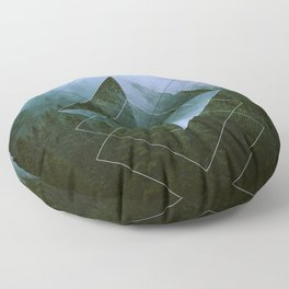Dolomite Mountains Floor Pillow