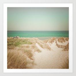 Beach dune miniature 4 Art Print