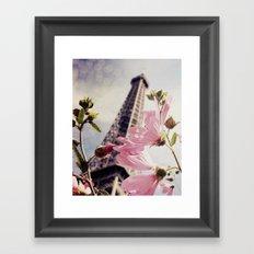 Paris Is Blooming Framed Art Print