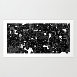 At The Show Art Print