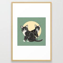 Lovely kitties Framed Art Print