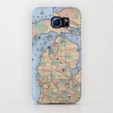 Michigan Railroad Map Galaxy S6 Slim Case