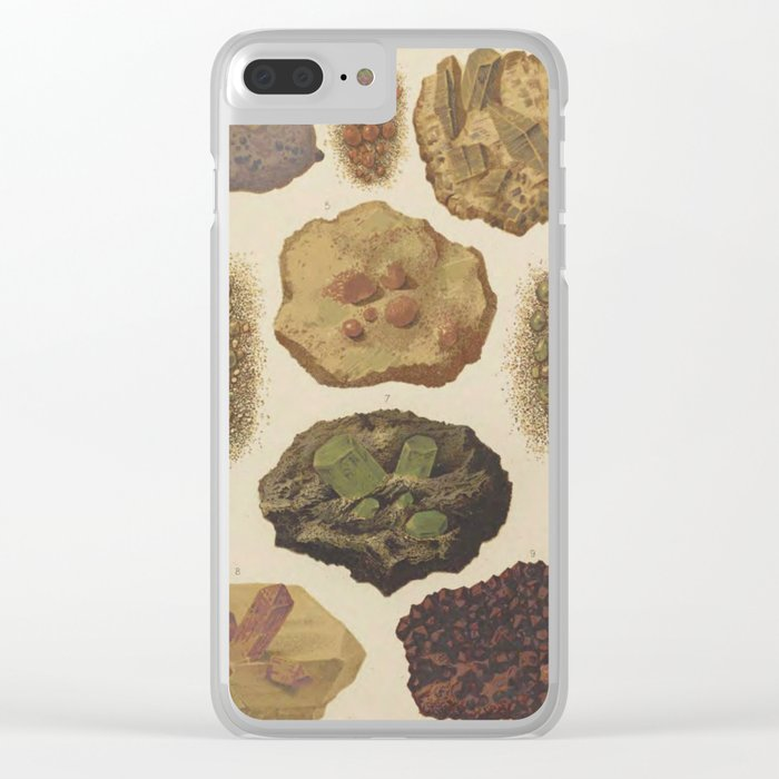 Gems And Minerals Clear iPhone Case