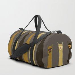 Triple LLAMAS ALPACAS CAMELS - Dark Duffle Bag