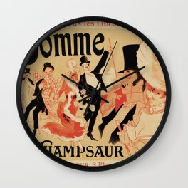 La Gomme by Champsaur vintage belle epoque ad Jules Chéret Wall Clock