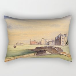 St Andrews Golf Course Scotland 18th Hole Rectangular Pillow