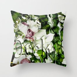 Liquid Orchid by Artist McKenzie http://www.McKenzieArtStudio.com Throw Pillow