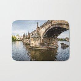 Charles Bridge in Prague Bath Mat